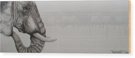 Elephant Tears Wood Print