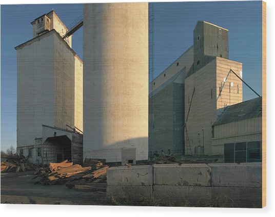 Elevators In Moscow Idaho Wood Print by Jerry McCollum