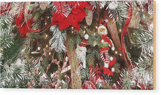 Elf In A Tree Wood Print