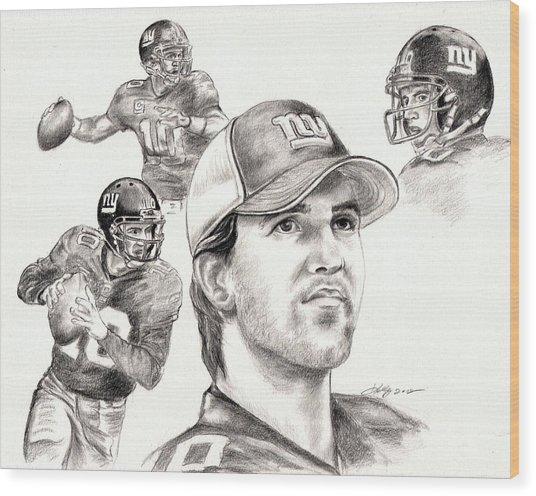 Eli Manning Wood Print