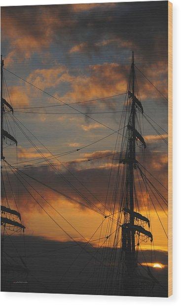 Elissa Sunset Wood Print