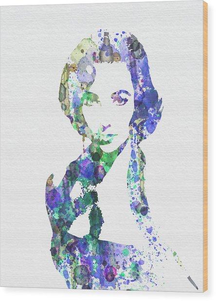Elithabeth Taylor Wood Print