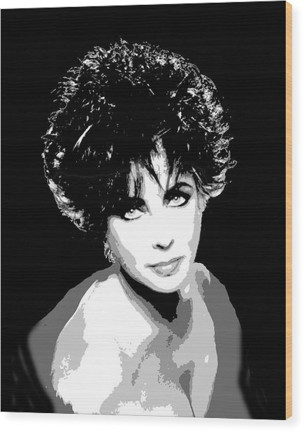 Elizabeth Taylor Wood Print by Richard La Valle