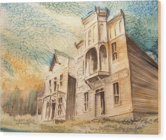 Elkhorn Ghost Town Montana Wood Print by Kevin Heaney