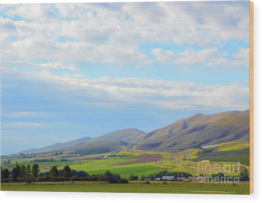 Ellensburg - Manastash Ridge Wood Print
