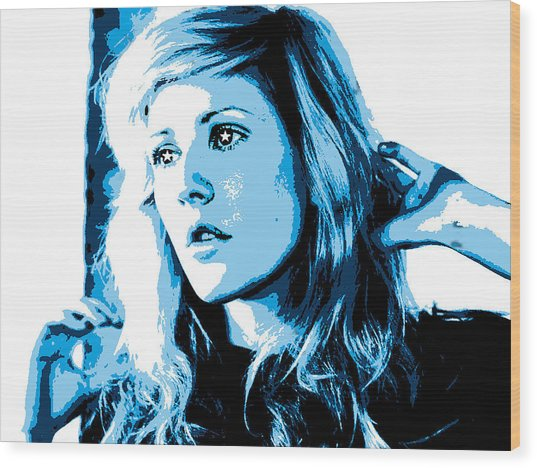 Ellie Goulding Starry Eyed Wood Print