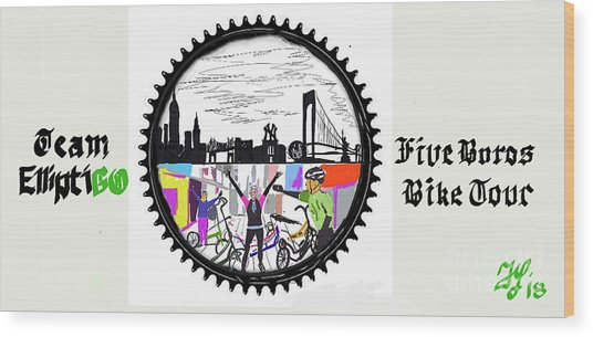 elliptiGO meets the 5 boros bike tour Wood Print