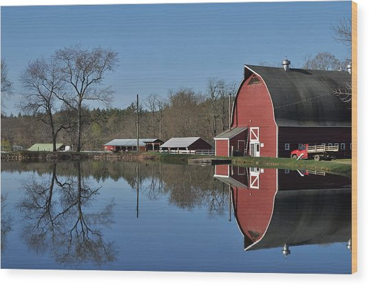 Elm Lea Farm Wood Print