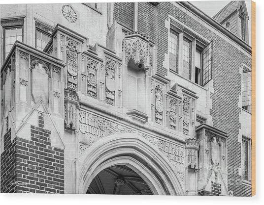 Elmira College Hamilton Hall Wood Print by University Icons