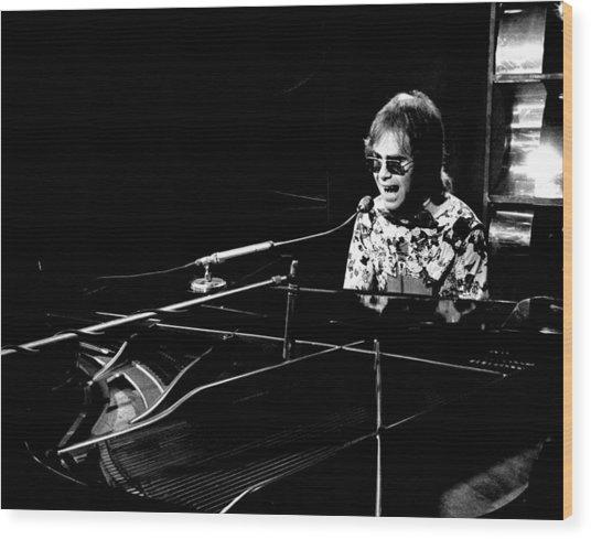 Elton John 1970 #4 Wood Print