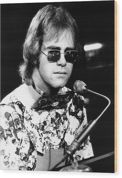 Elton John 1970 #1 Wood Print