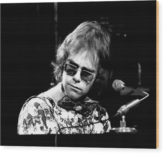 Elton John 1970 #2 Wood Print