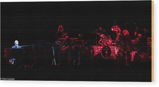Elton John And Band In 2015 Wood Print