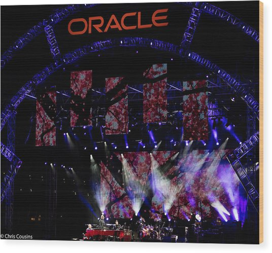 Elton John At Oracle Open World In 2015 Wood Print