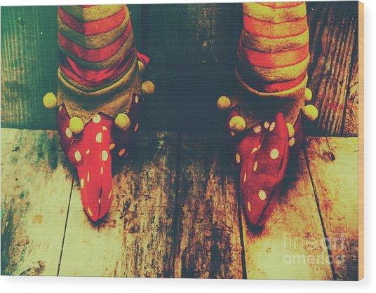 Elves And Feet Wood Print