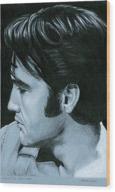 Elvis 68 Revisited Wood Print