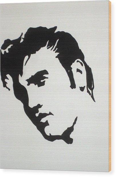 Elvis Before Time Wood Print