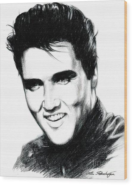 Elvis Wood Print