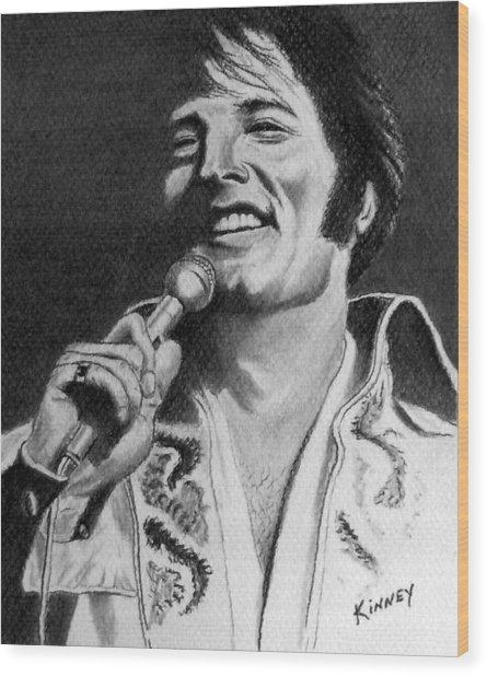 Elvis No. 8 Wood Print by Jay Kinney