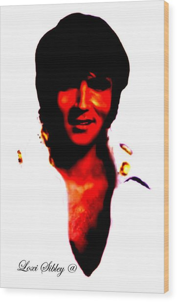 Elvis By Loxi Sibley Wood Print