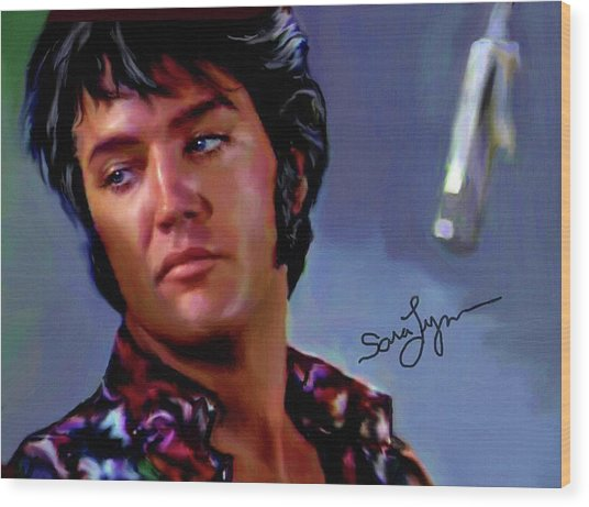 Elvis Presley Art 10 Wood Print