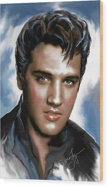 Elvis Presley Art 11 Wood Print
