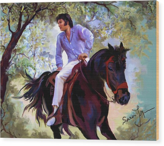 Elvis Presley Art 12 Wood Print