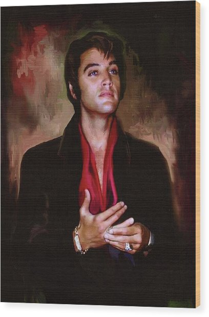 Elvis Presley Art 13 Wood Print