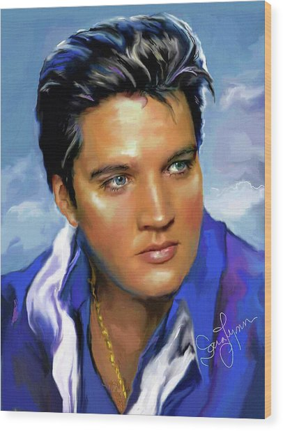 Elvis Presley Art 14 Wood Print