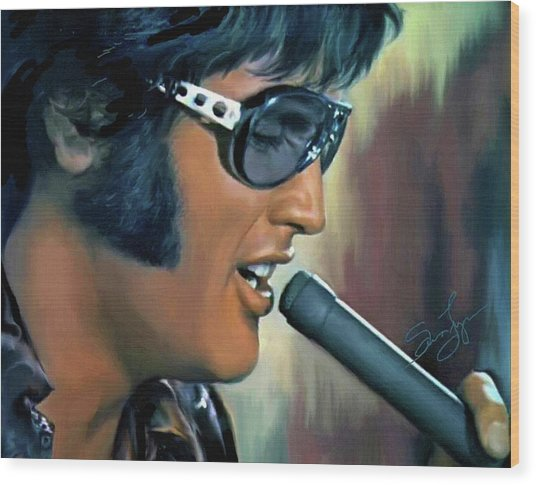 Elvis Presley Art 15 Wood Print