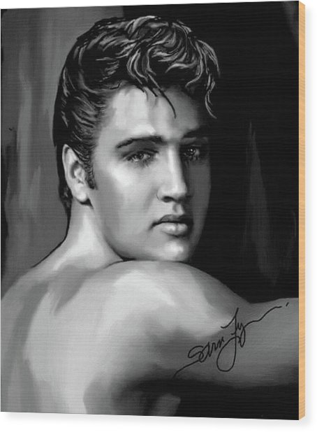 Elvis Presley Art 16 Wood Print