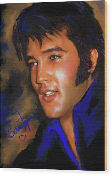 Elvis Presley Art 17 Wood Print