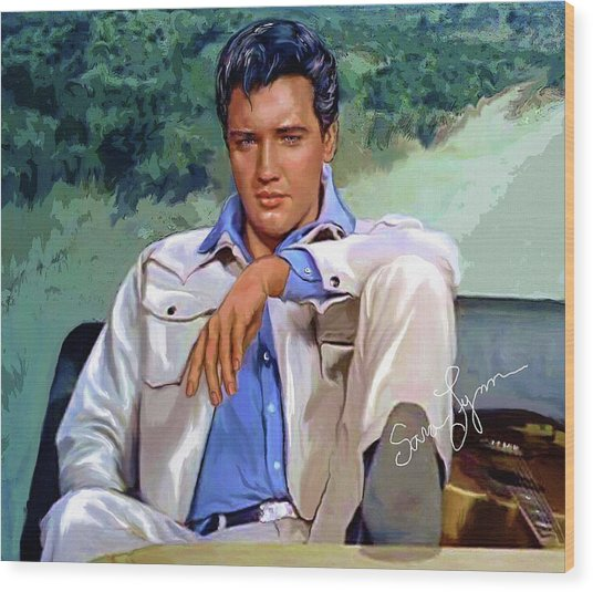 Elvis Presley Art 18 Wood Print
