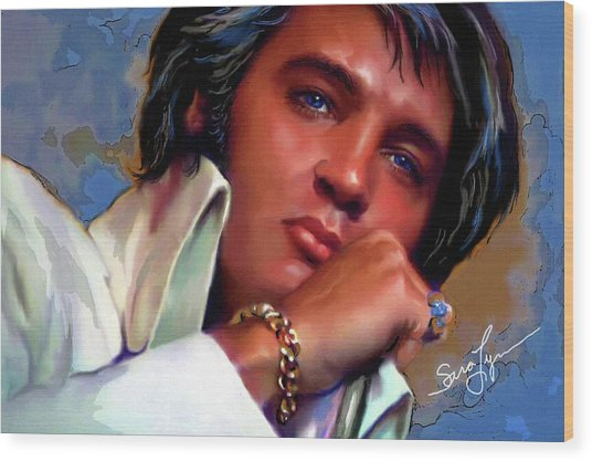 Elvis Presley Art 19 Wood Print