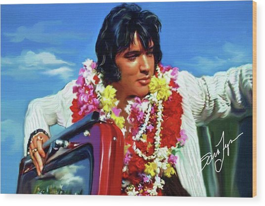 Elvis Presley Art 21 Wood Print