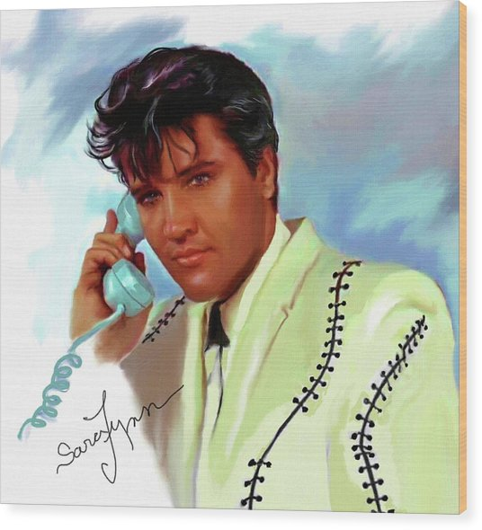 Elvis Presley Art 22 Wood Print