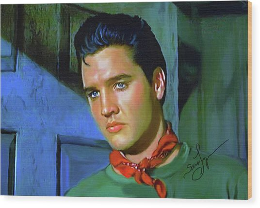 Elvis Presley Art 23 Wood Print