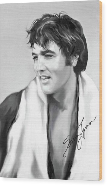 Elvis Presley Art 25 Wood Print