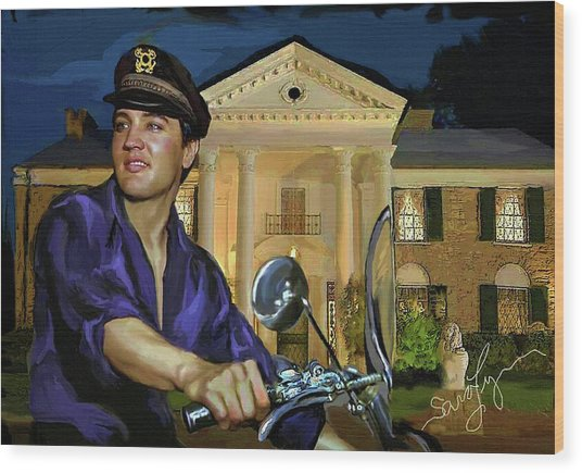 Elvis Presley Art 6 Wood Print