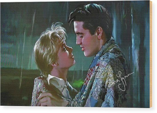 Elvis Presley Art 7 Wood Print