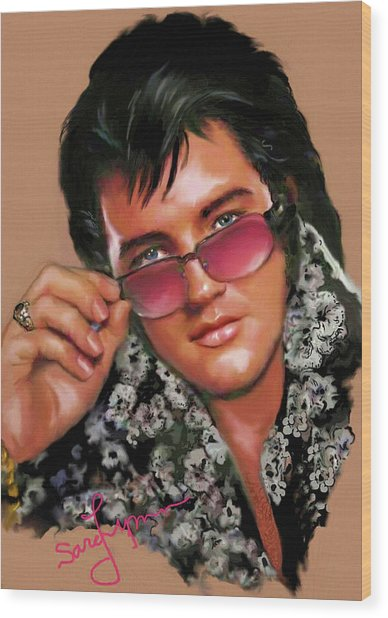 Elvis Presley Art 8 Wood Print