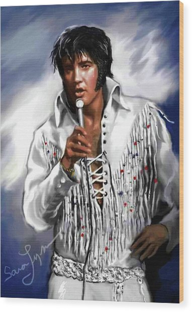 Elvis Presley Art 9 Wood Print
