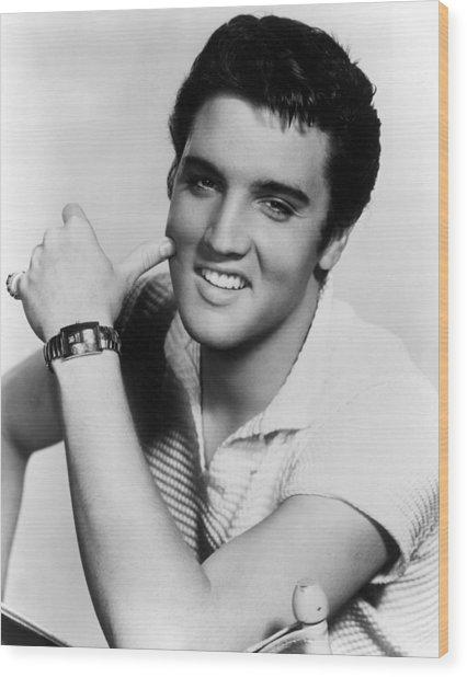 Elvis Presley, Ca. 1950s Wood Print