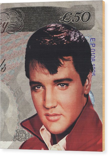 Elvis Presley Wood Print