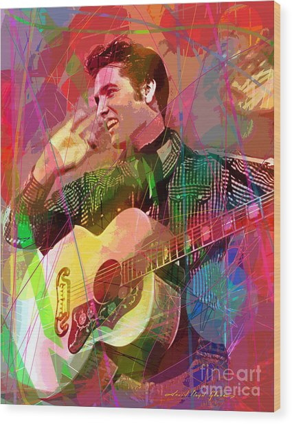 Elvis Rockabilly  Wood Print