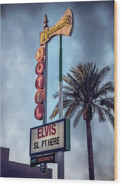 Elvis Sl Pt Here Wood Print
