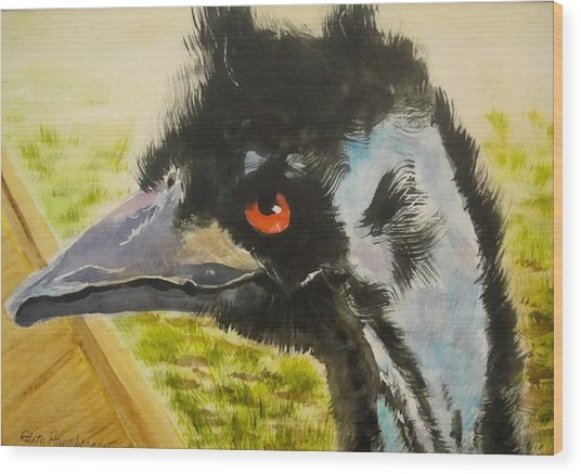 Elvis The Emu Wood Print