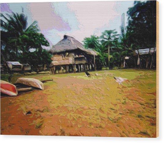 Embera Simple Way. Wood Print by Nereida Slesarchik Cedeno Wilcoxon