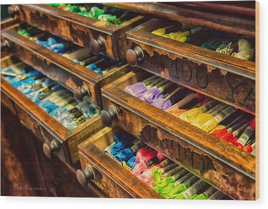 Embroidery Thread 1830 Wood Print
