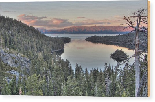 Emerald Bay Colors Wood Print